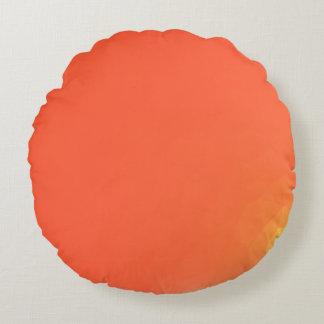 Abstract & Modern Geometric Designs - Fiery Center Round Pillow