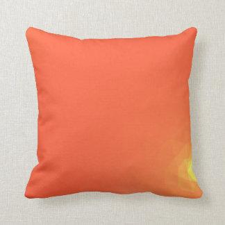 Abstract & Modern Geometric Designs - Fiery Center Throw Pillow