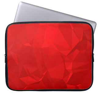 Abstract & Modern Geometric Designs - Ruby Blossom Laptop Sleeve