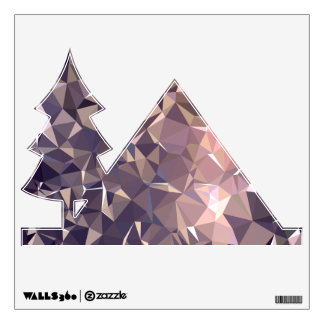Abstract & Modern Geometric Designs - Space Time Wall Sticker