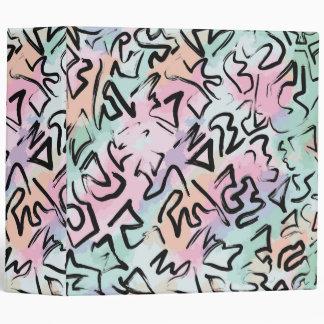 Abstract Modern Graffiti Watercolor Brushstrokes Binders
