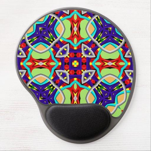 Abstract modern pattern gel mouse mat