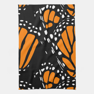 Abstract Monarch Butterfly Design Kitchen Towels
