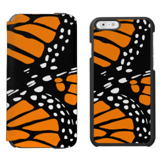 Abstract Monarch Butterfly Wing Design Incipio Watson™ iPhone 6 Wallet Case