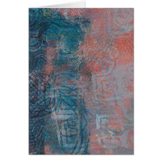 Abstract Monoprint 17021054 Greeting Card