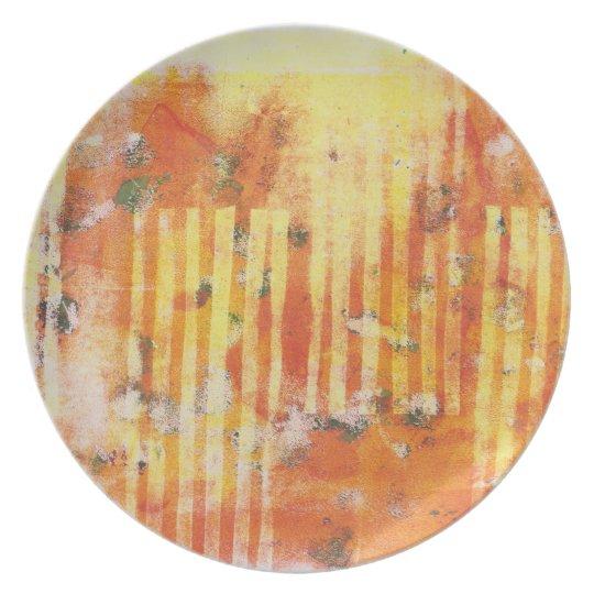 Abstract Monoprint 17025YOS  Plate