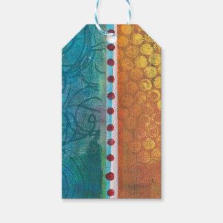 Abstract Monoprint 170315648 ART Gift Tag