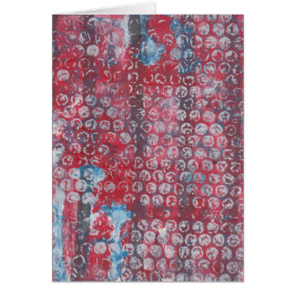 Abstract Monoprint 17054994 Greeting Card