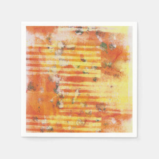 Abstract Monoprint Paper Napkin