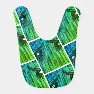 Abstract Monster Baby Bib