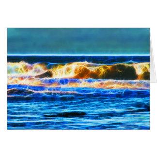 Abstract moody waves greeting card