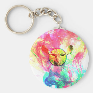 Abstract Moose Keychain