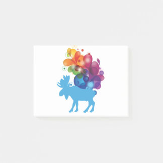 Abstract Moose Post-it® Notes