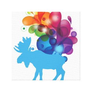 Abstract Moose Wrapped Canvas