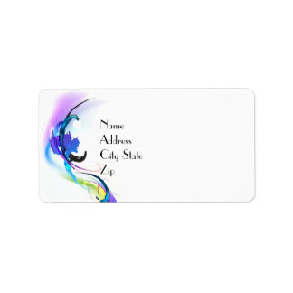 Abstract Morning Glory Paint Splatters Label