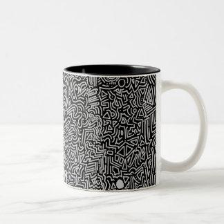 Abstract Mornings Two-Tone Coffee Mug