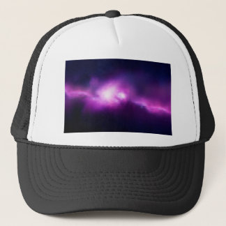 Abstract Mosaic Nebulla with Galactic Cosmic Cloud Trucker Hat