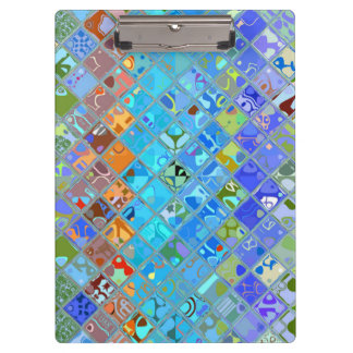 Abstract Mosaic Pattern #10 Clipboard