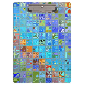 Abstract Mosaic Pattern #9 Clipboard