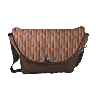 Abstract Mosaic Pattern Brown Blue Gold Vintage Commuter Bags