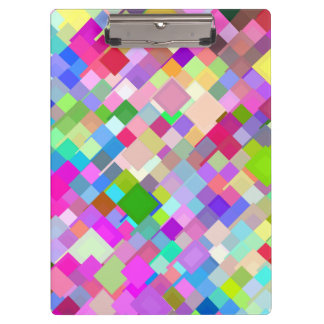 Abstract Mosaic Pattern Clipboards