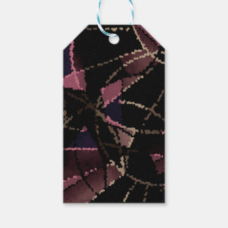 Abstract mosaic pattern gift tags