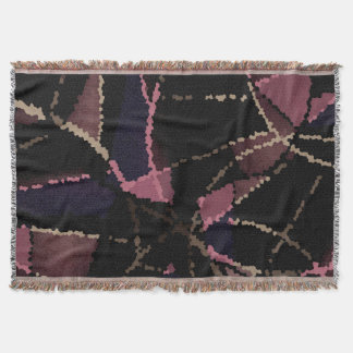 Abstract mosaic pattern throw blanket