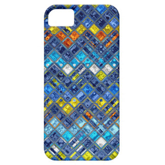 Abstract Mosaic Stained Glass Pattern iPhone 5 Covers