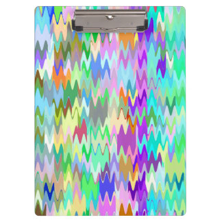 Abstract Mosaic Wave Pattern #12 Clipboards