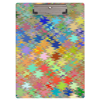 Abstract Mosaic Wave Pattern #16 Clipboard