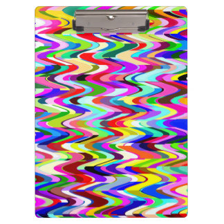 Abstract Mosaic Wave Pattern #5 Clipboard