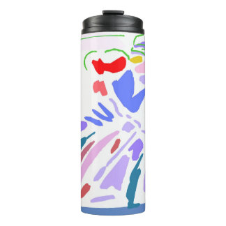 Abstract Motorcyle Rider Thermal Tumbler