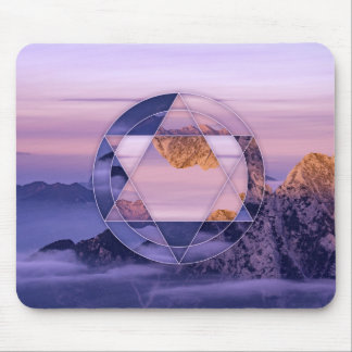 Abstract mountain landscape mouspad mouse pad
