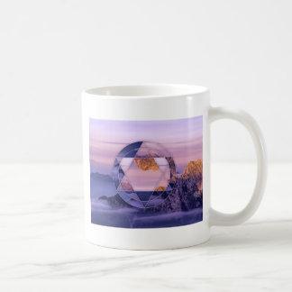 Abstract mountain landscape mug