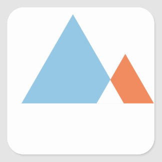 Abstract Mountains Square Sticker