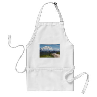 Abstract mountains white Alaska landscape Standard Apron