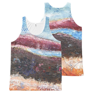 Abstract Mountainscape All-Over-Print Tank Top