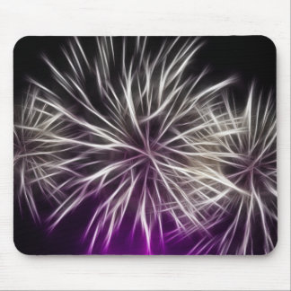Abstract Mouse Mat, White Firework Mouse Pad