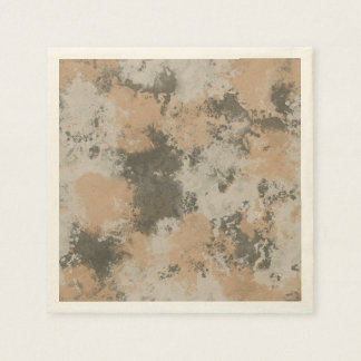 Abstract Mud Puddle Disposable Napkin