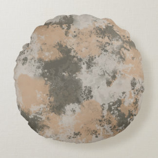 Abstract Mud Puddle Round Pillow