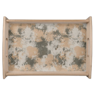Abstract Mud Puddle Serving Tray