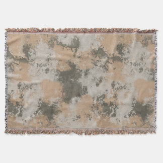 Abstract Mud Puddle Throw Blanket