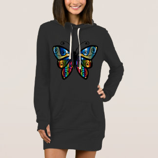 Abstract Multi Color Butterfly Dress