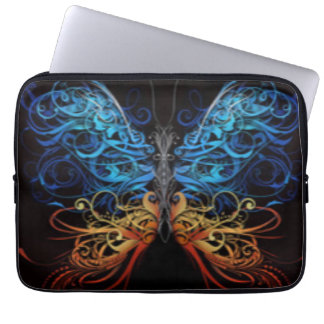 Abstract Multi Color Butterfly Laptop Sleeve
