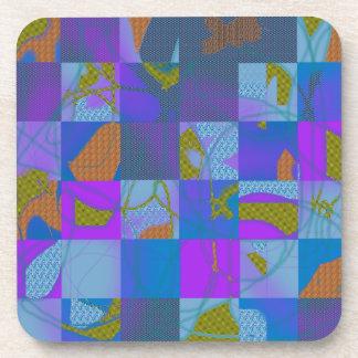 Abstract Multi-Color Design Beverage Coasters