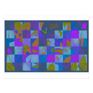 Abstract Multi-Color Design Postcard