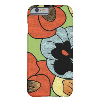 Abstract Multi Colored Pansy Flowers Barely There iPhone 6 Case