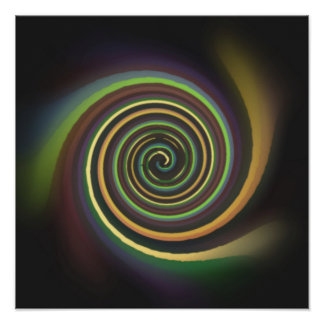 Abstract Multi-colored Swirl Poster