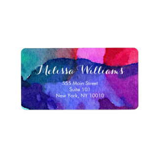 Abstract Multi-Colored Watercolors Makeup Artist Label