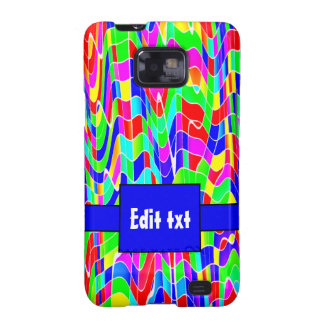 Abstract multi colour galaxy SII case